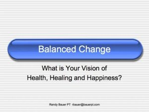 Health, Healing and Happiness
